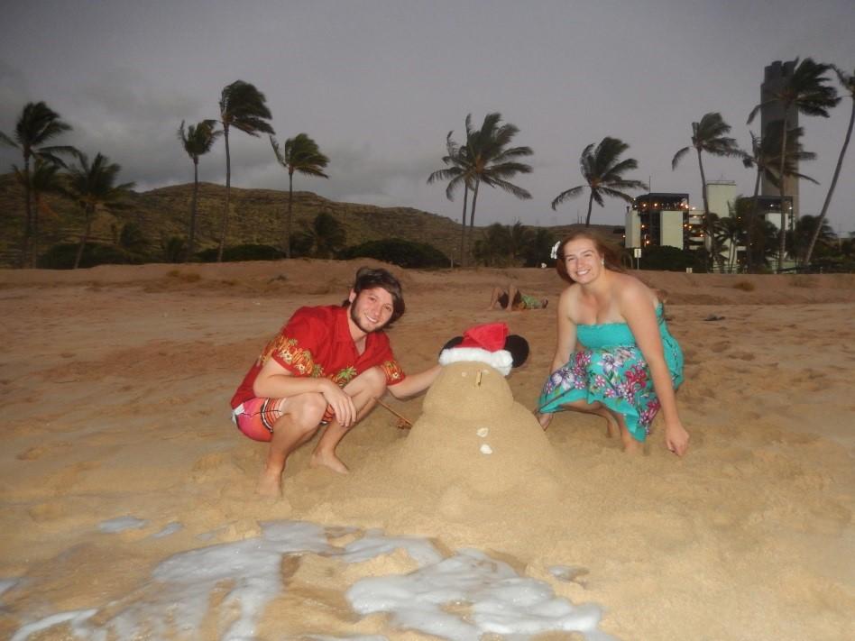 Christmas day in Hawaii