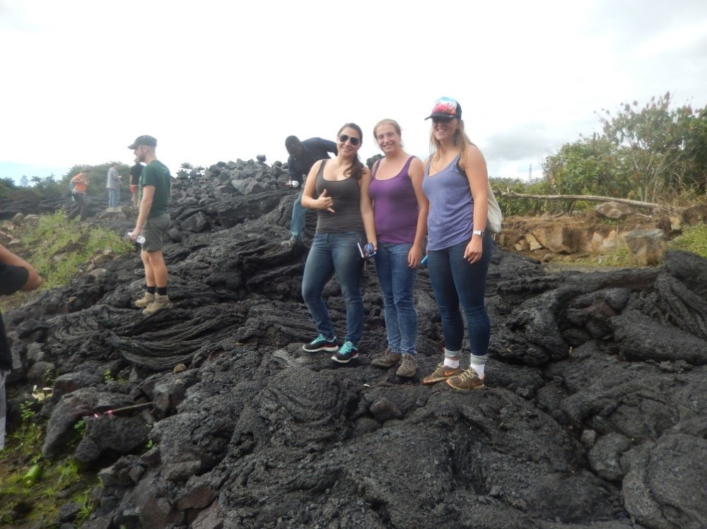 Standing on the New Lava, a highlight of my year so far, this arm of the Pu'u 'Ō'ō flow reached this spot in November