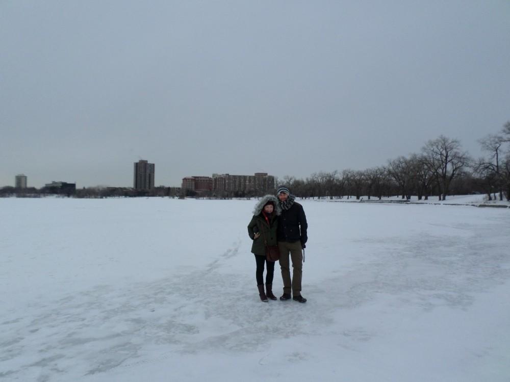 Walking on frozen lakes